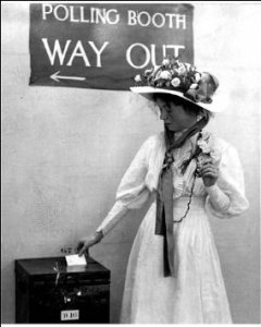 suffragette polling station