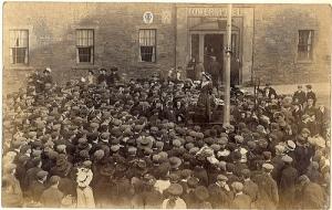 suffragette talking to crowd
